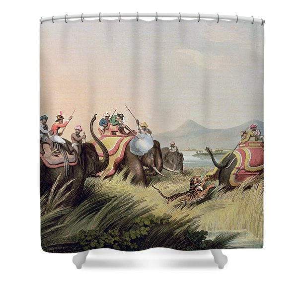 The Tiger At Bay Shower Curtain