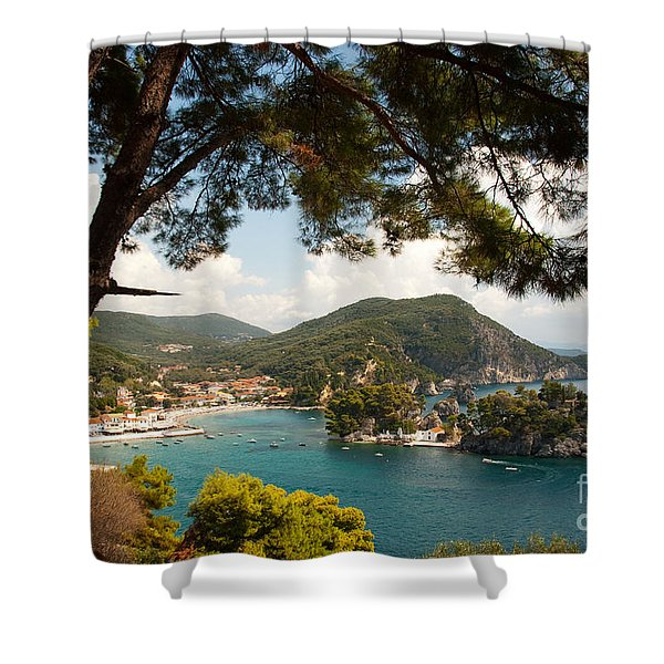 The Town Of Parga - 2 Shower Curtain