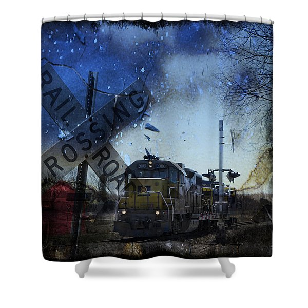 The Train Shower Curtain