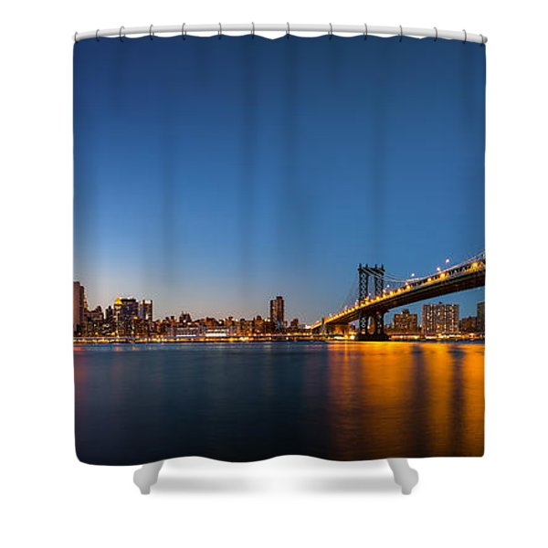 The Two Bridges Shower Curtain