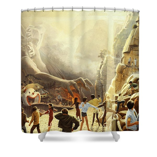 The Two Ways Shower Curtain