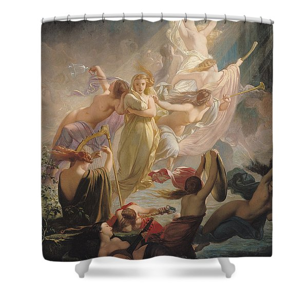 The Undines Or The Voice Of The Torrent Shower Curtain