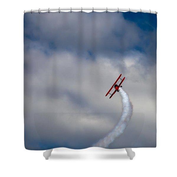 The Vapor Trail Shower Curtain
