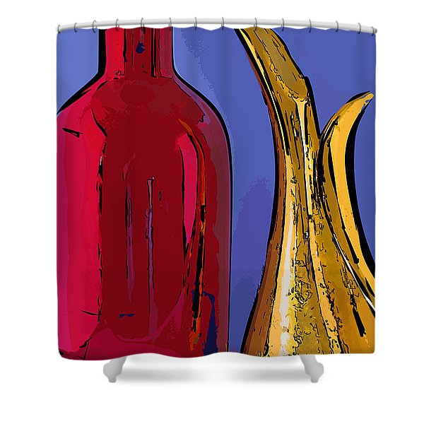 The Vase And Pitcher Shower Curtain