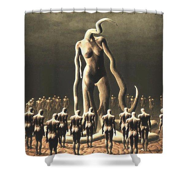 The Vile Goddess Shower Curtain
