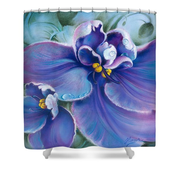 The Violet Shower Curtain