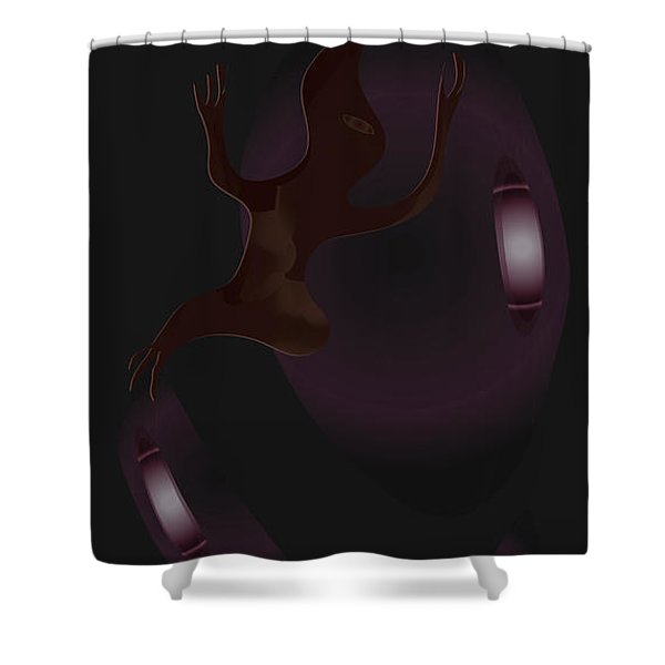 The Violet Void Shower Curtain