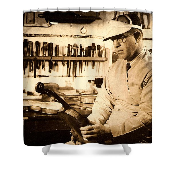The Violin Maker Shower Curtain