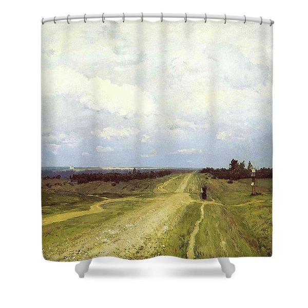 The Vladimirka Road Shower Curtain