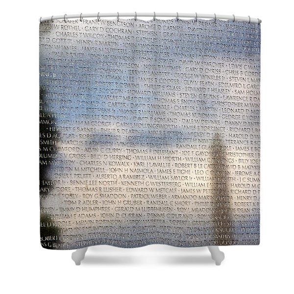 Shower Curtain featuring the photograph The Wall by Jemmy Archer