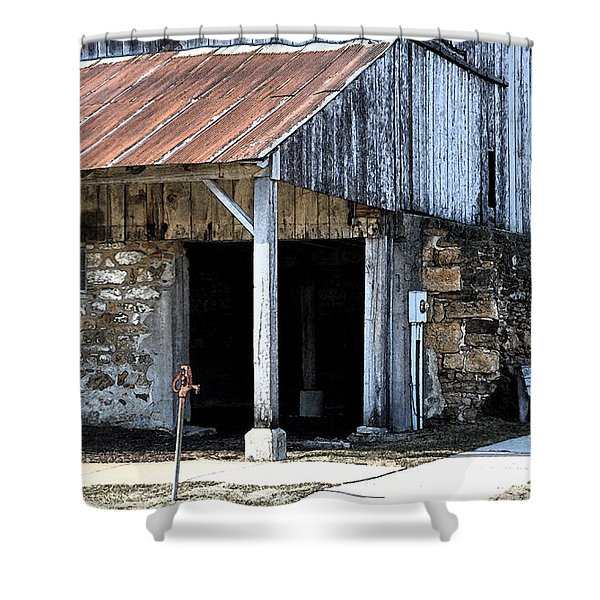 The Water Pump Shower Curtain