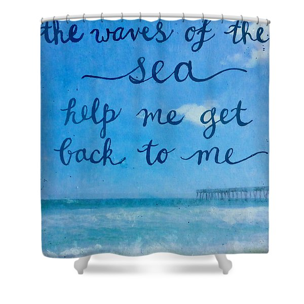 The Waves Of The Sea Shower Curtain