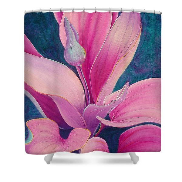 Shower Curtain featuring the painting The Way You Look Tonight by Sandi Whetzel