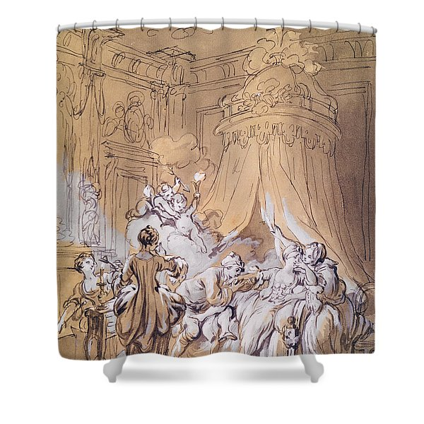 The Wedding Night Shower Curtain