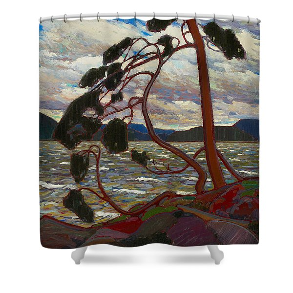 The West Wind Shower Curtain