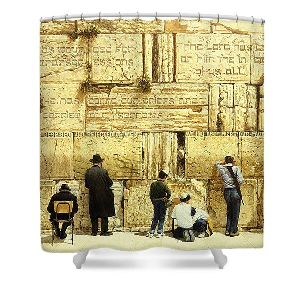 The Western Wall  Jerusalem Shower Curtain