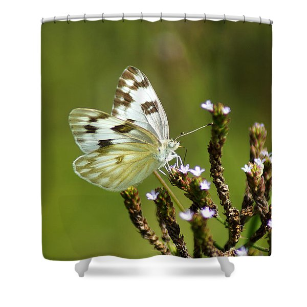 The Western White Shower Curtain
