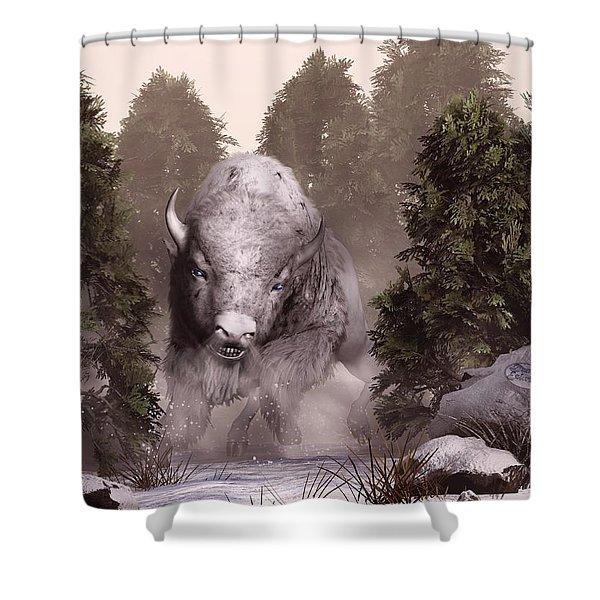 The White Buffalo Shower Curtain