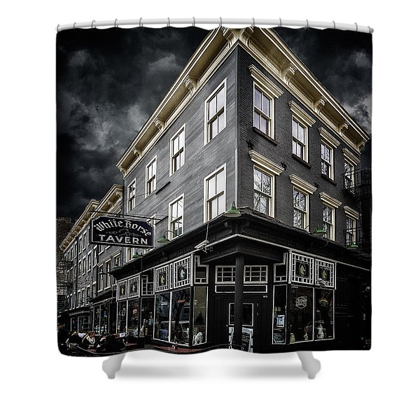 The White Horse Tavern Shower Curtain