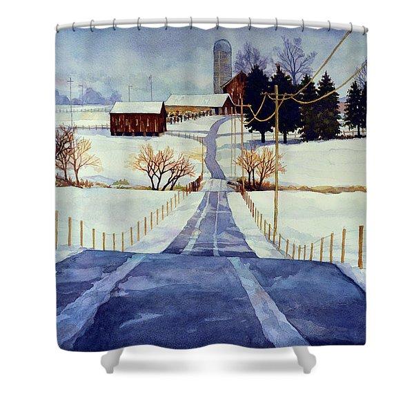 The White Season Shower Curtain