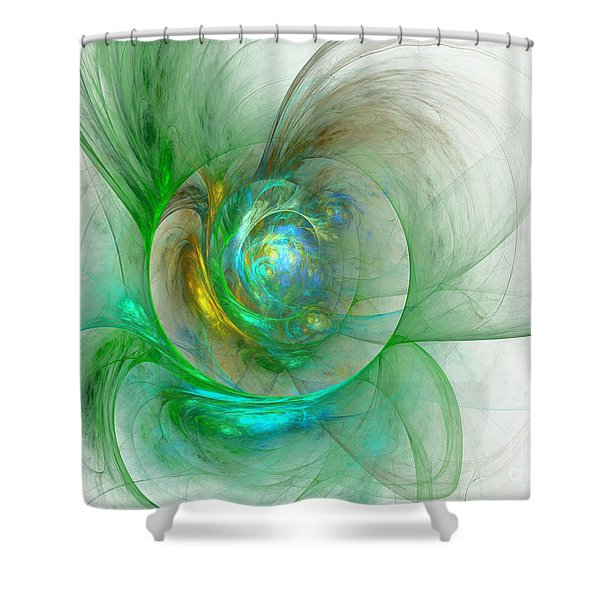 The Whole World In A Small Flower Shower Curtain