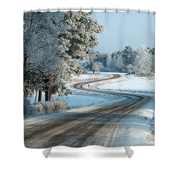 The Winding Road Shower Curtain