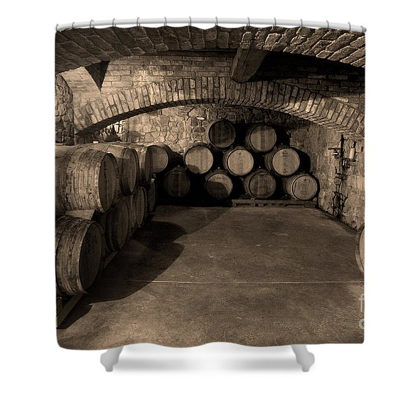 The Wine Cave Shower Curtain