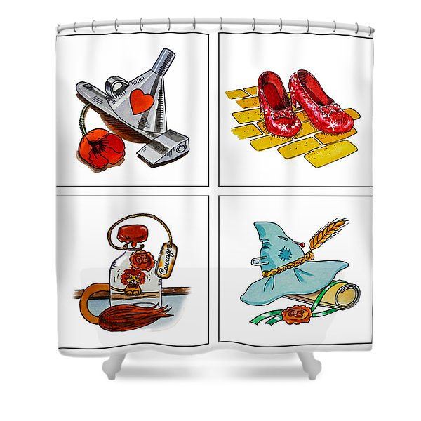 The Wonderful Wizard Of Oz Shower Curtain