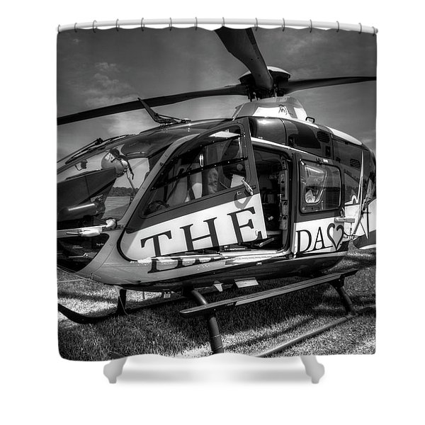 Theda Star Black And White Shower Curtain