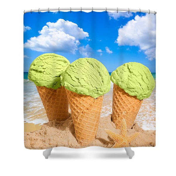 Thee Minty Icecreams Shower Curtain