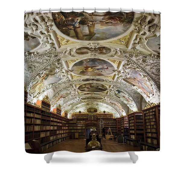 Theological Hall Strahov Monastery Shower Curtain