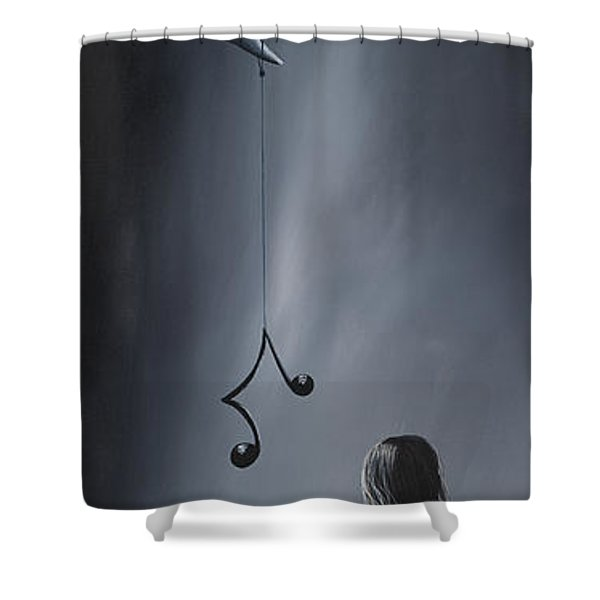 They Feel Your Love Song - Surreal Art By Shawna Erback Shower Curtain