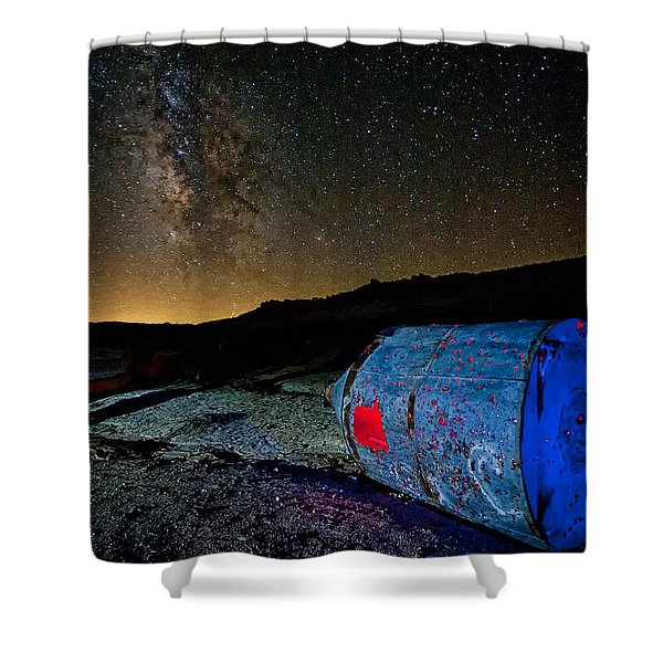They've Landed Shower Curtain
