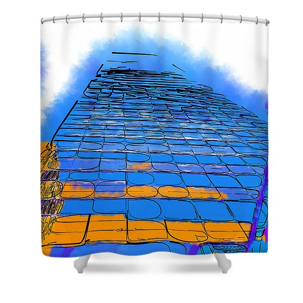 Think Tall Shower Curtain