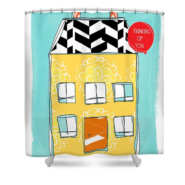 Thinking Of You Card Shower Curtain