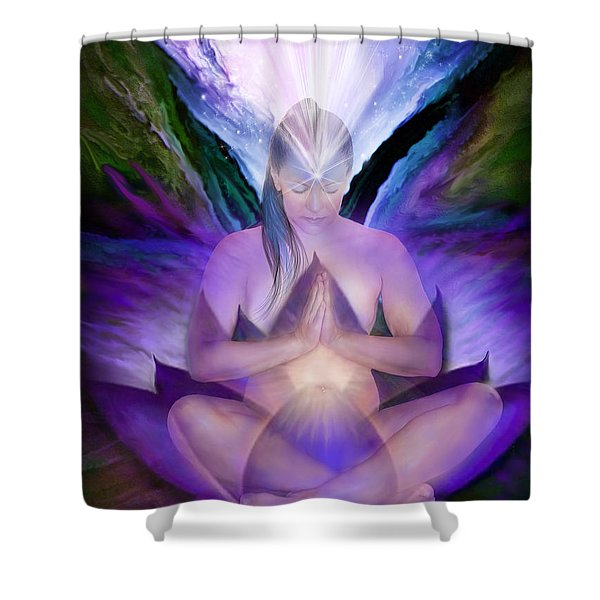 Third Eye Chakra Goddess Shower Curtain