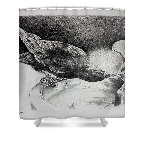 Thirsty Crow Shower Curtain
