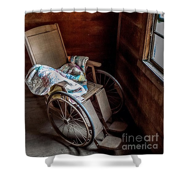 Wheelchair With A View Shower Curtain