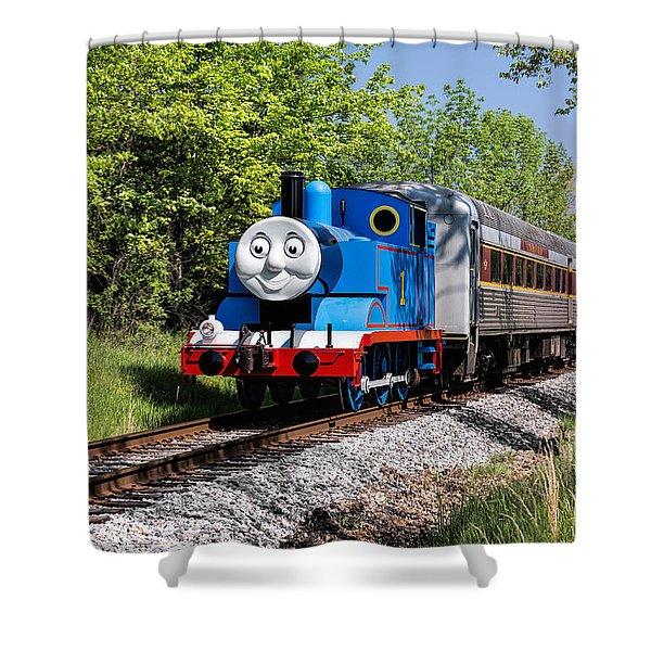 Thomas Visits The Cvnp Shower Curtain