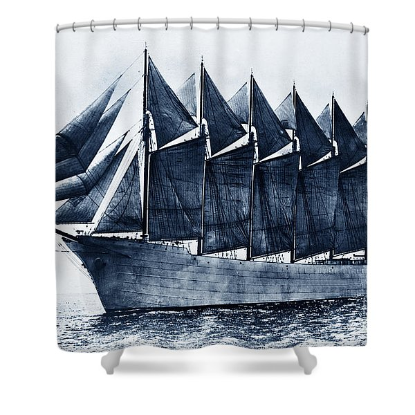 Thomas W. Lawson Seven-masted Schooner 1902 Shower Curtain