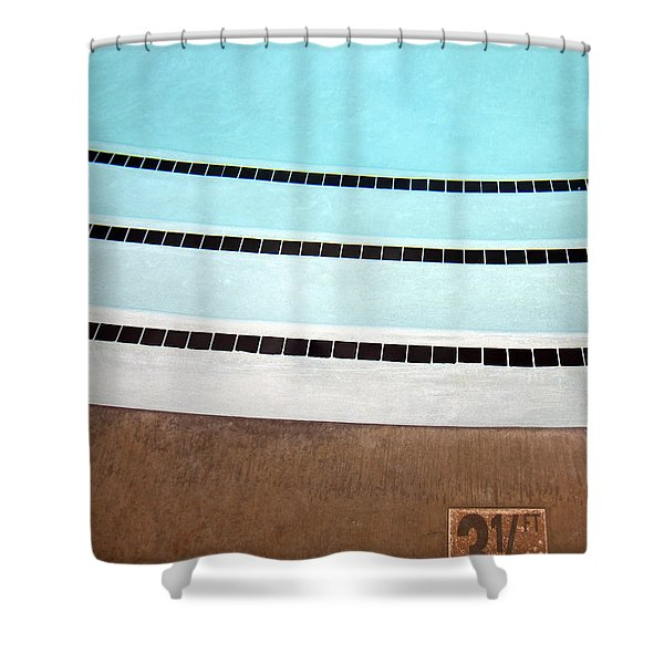Three And A Half Palm Springs Shower Curtain