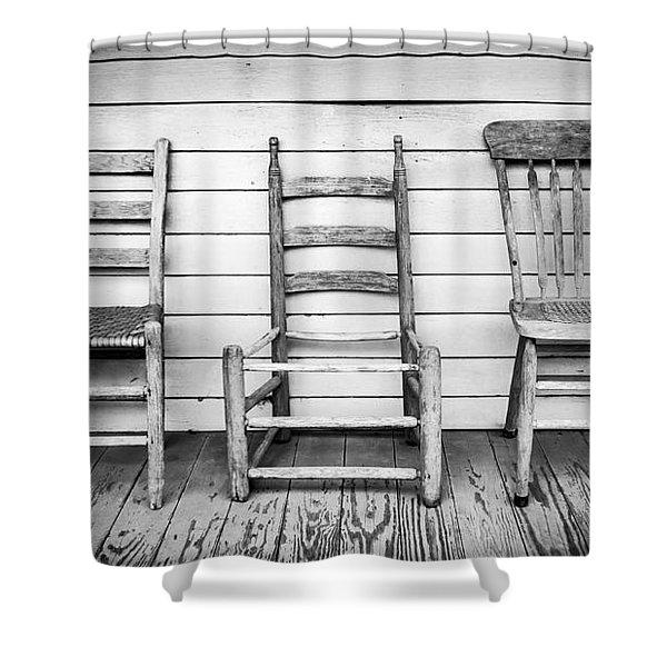 Three Chair Porch Shower Curtain