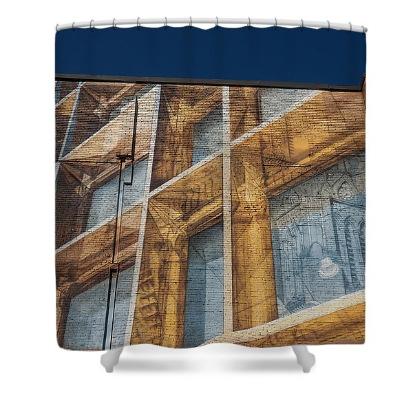 Three Dimensional Optical Illusions - Trompe L'oeil On A Brick Wall Shower Curtain