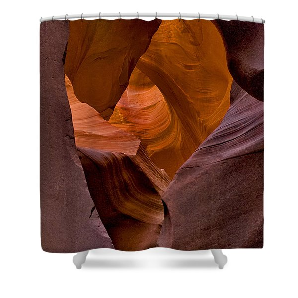 Shower Curtain featuring the photograph Three Faces In Sandstone by Mae Wertz