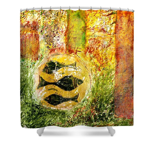 Three Fishes Shower Curtain