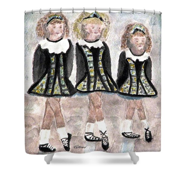 Three Irish Lasses Shower Curtain