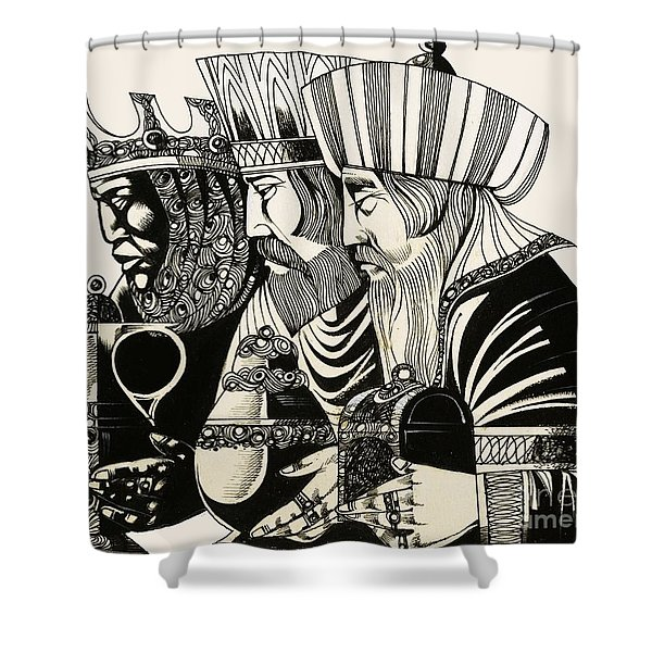 Three Kings Shower Curtain