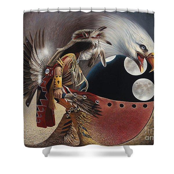Three Moon Eagle Shower Curtain