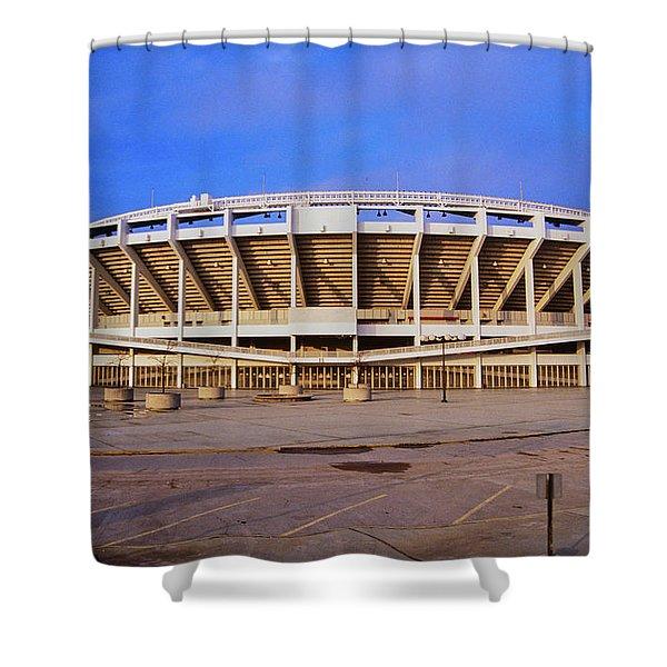 Three Rivers Stadium On Ohio River Shower Curtain