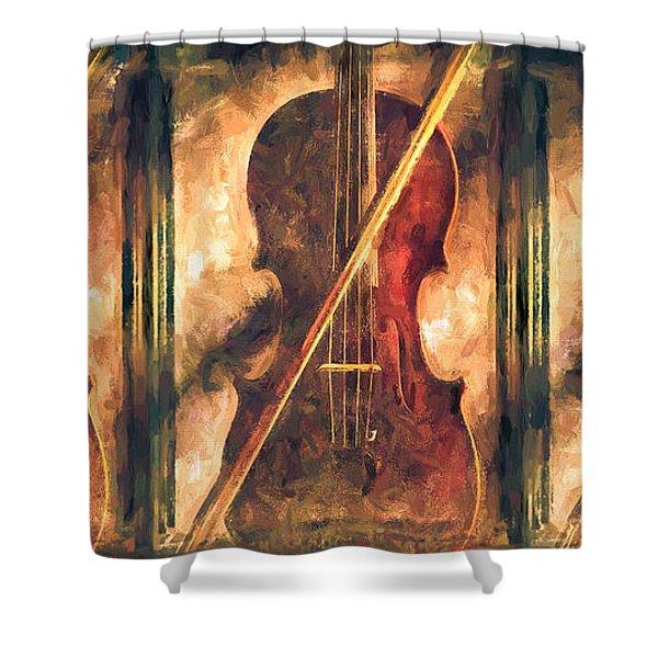 Three Violins Shower Curtain
